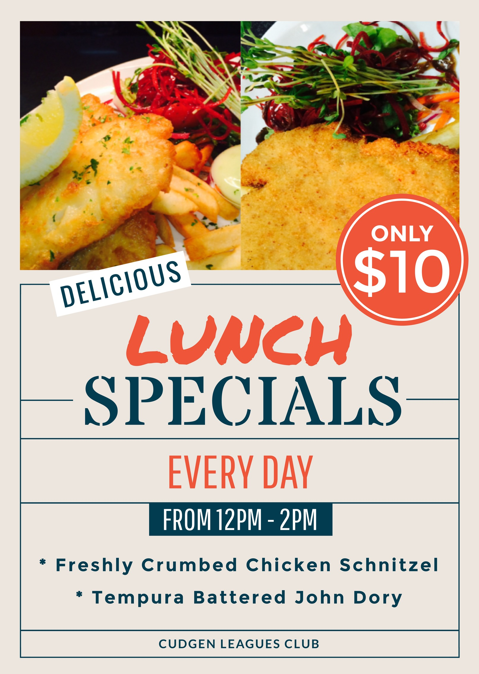 10 Lunch Specials